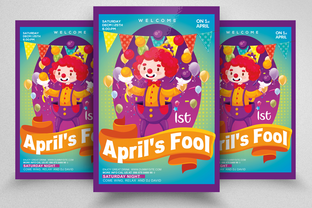 4 April Fool's Day Flyers Bundle example image 5