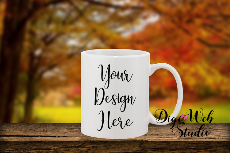 Mockup Bundle - Fall Country Wood Signs, Pillow & Coffee Cup example image 5