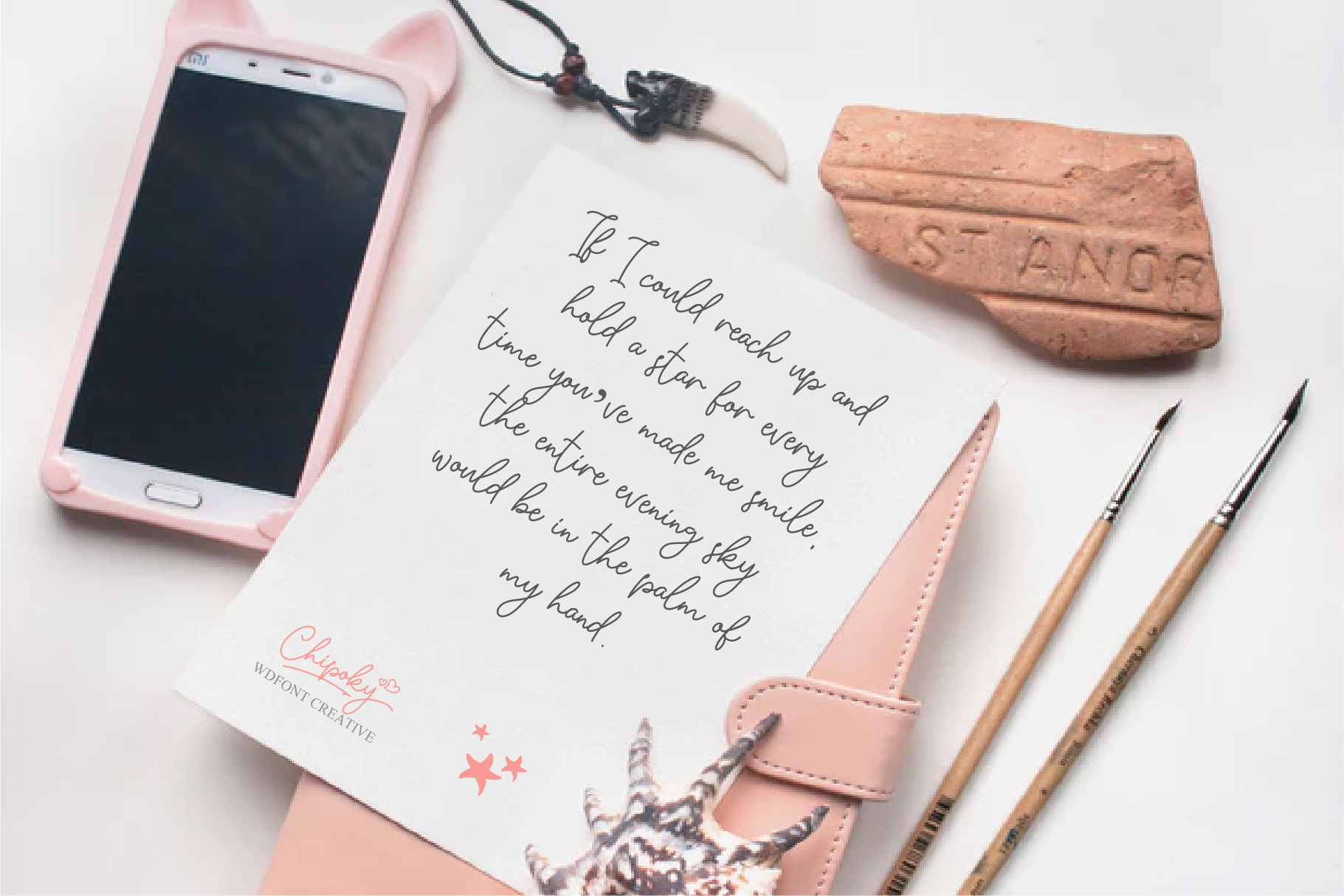 Chipoky | A Handwritten Font example image 3