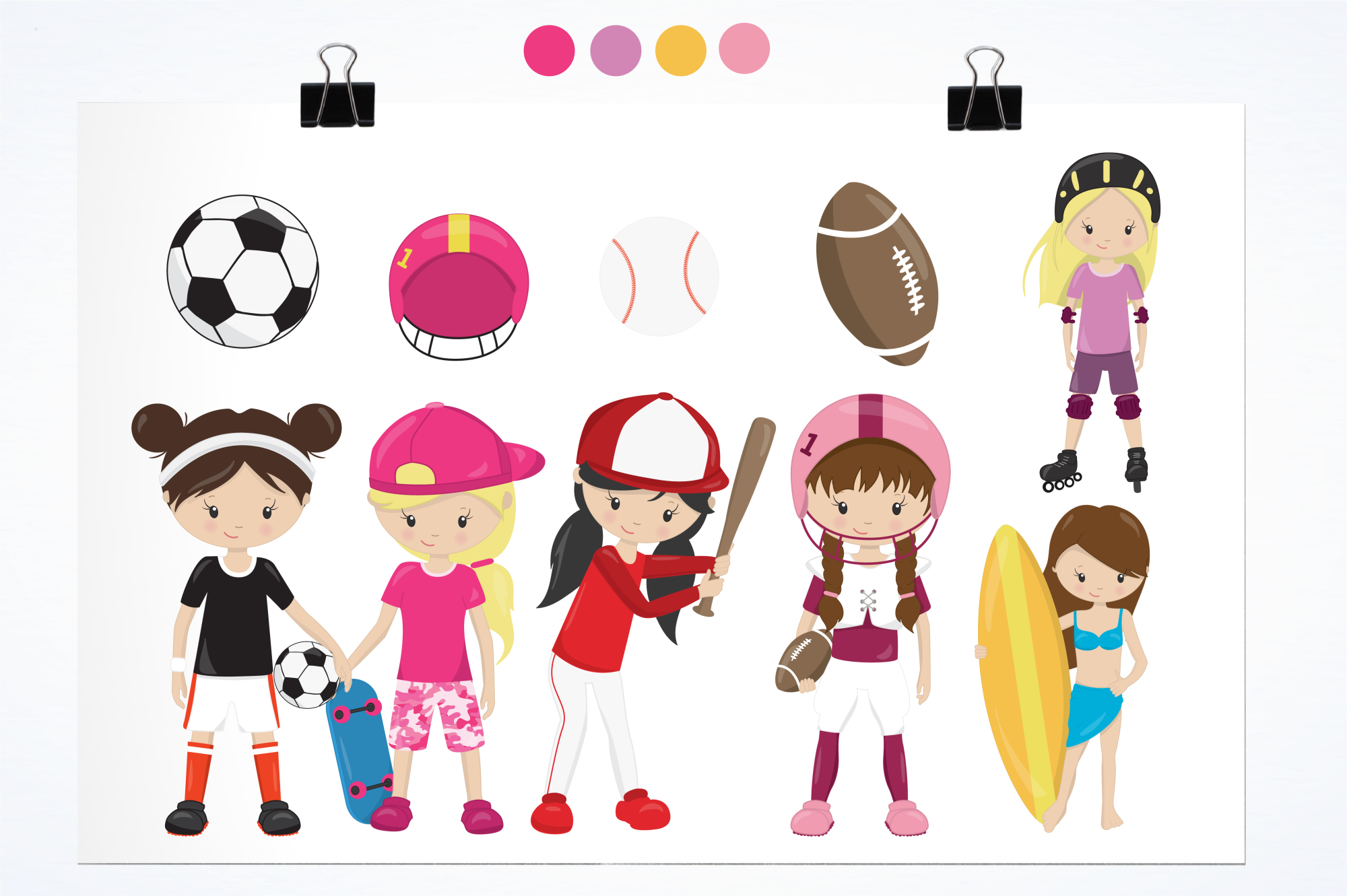 Sport Girls graphics and illustrations example image 2