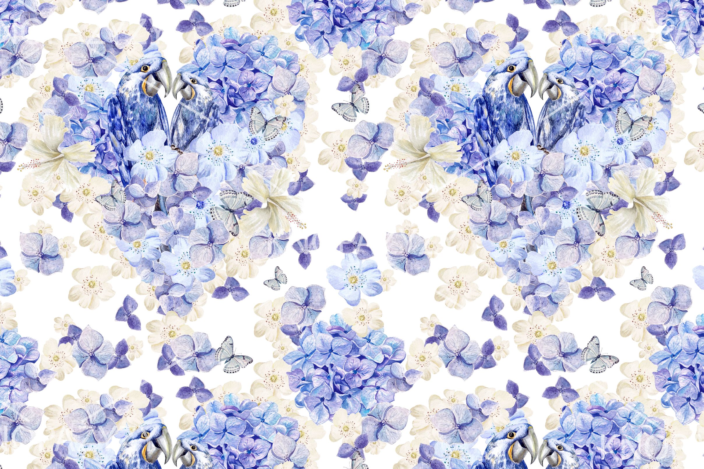 15 Hand Drawn Watercolor PATTERNS example image 4