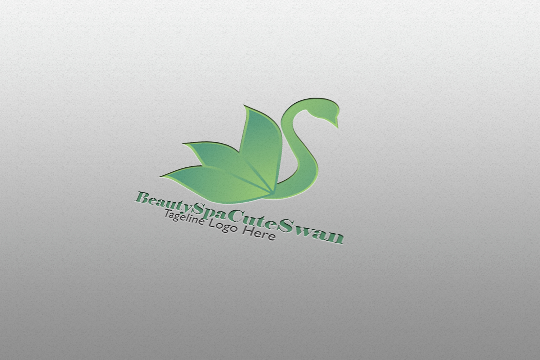 Beauty Spa Cute Swan Logo example image 3