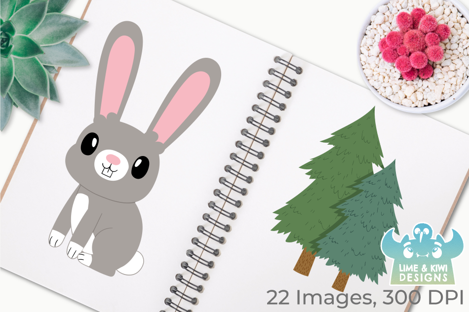 Rabbit Boys Clipart, Instant Download Vector Art example image 3