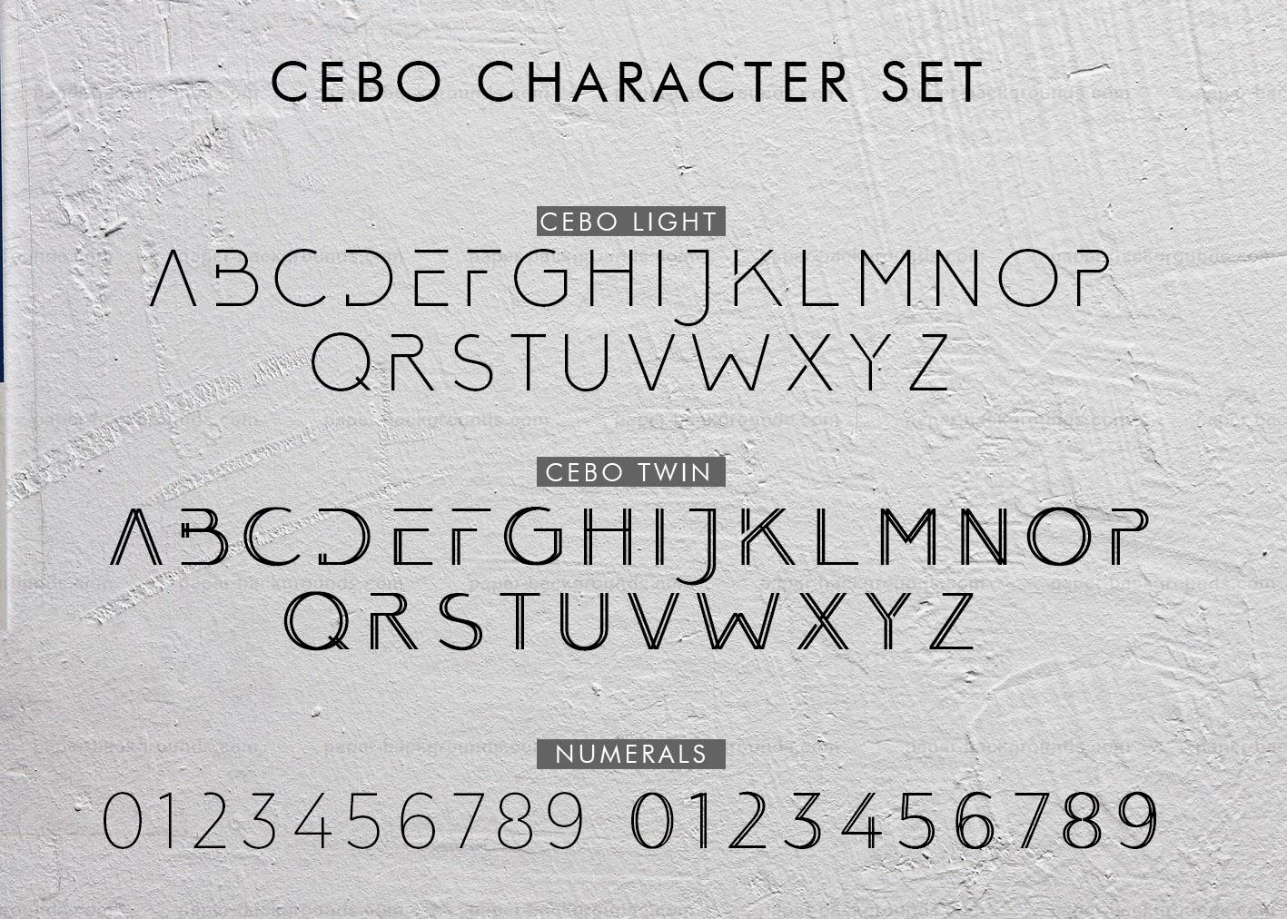 Cebo Typeface example image 5