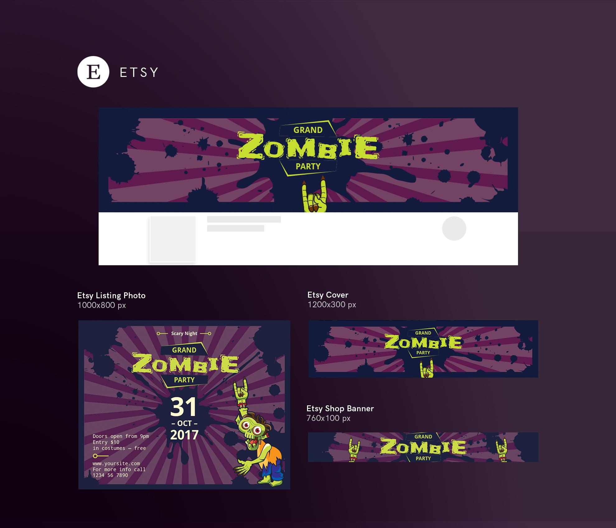 Zombie Party Design Templates Bundle example image 14
