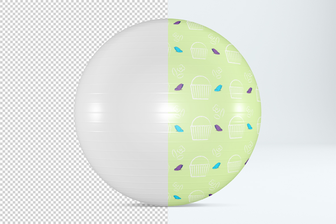 Fitness ball mockup. Exercise ball. Product mockup. example image 2