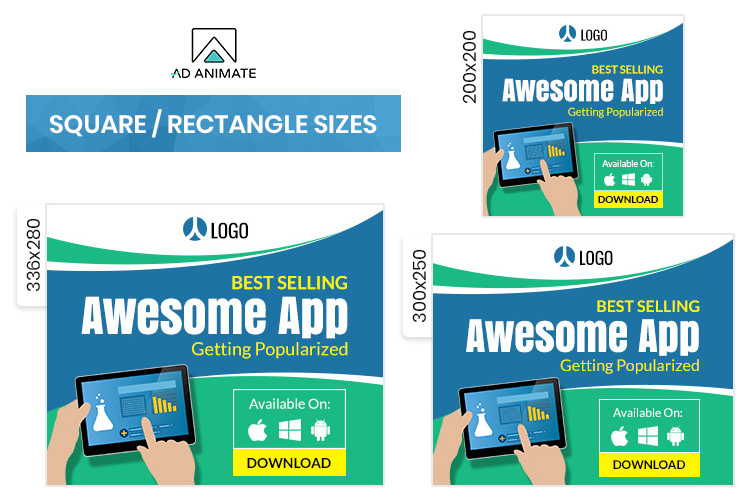 Mobile Application Animated Ad Banner Template example image 2