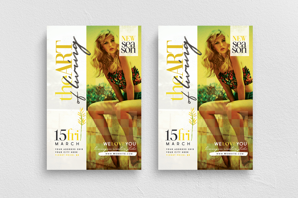 The Art Of Living Flyer Template example image 1