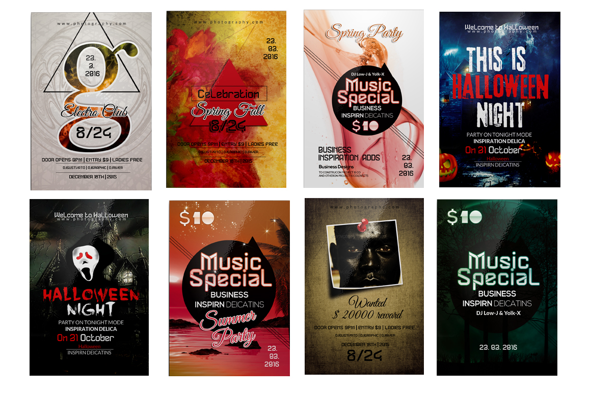 100 Party Flyers Bundle example image 8