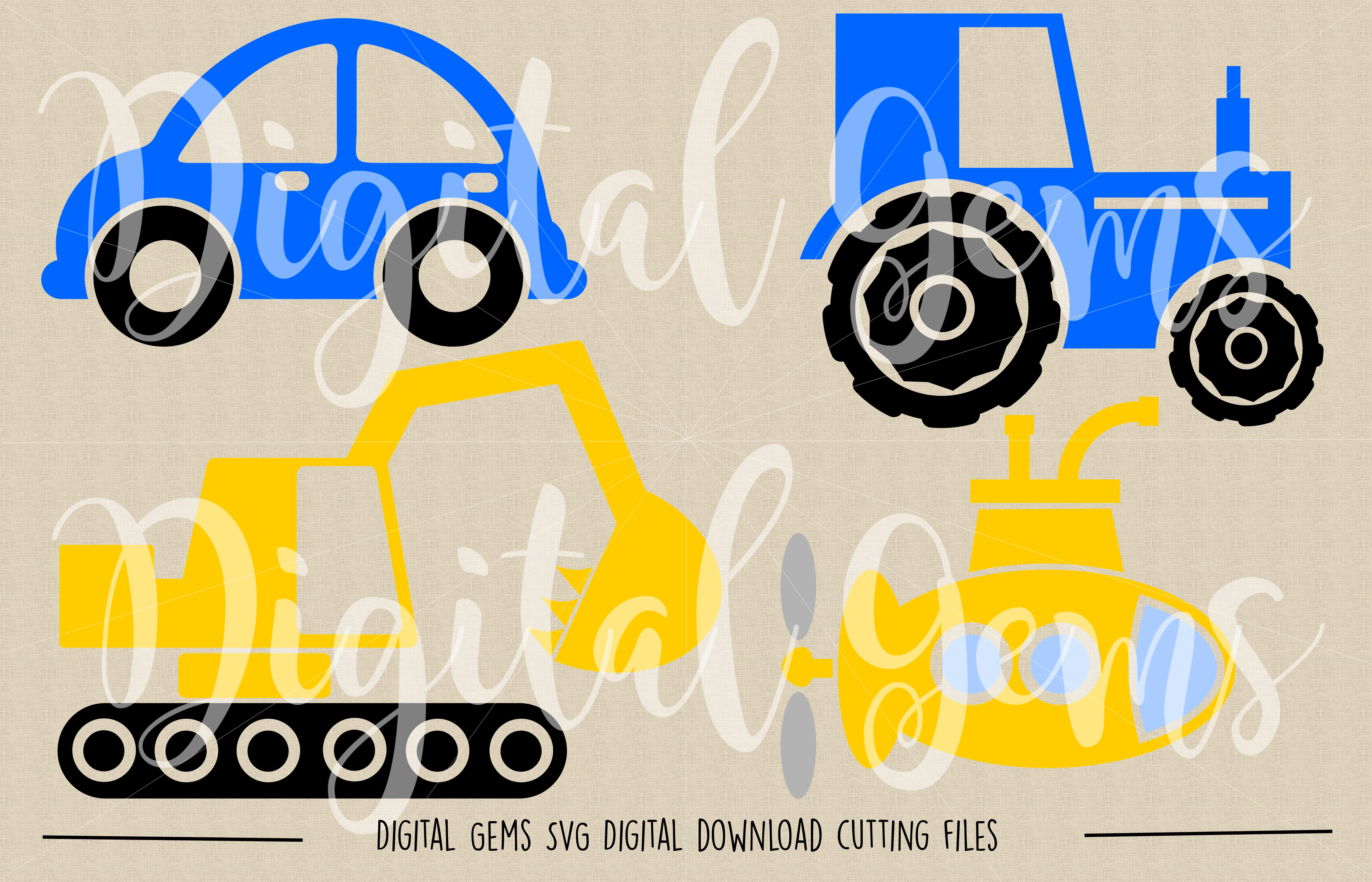 Vehicle SVG / DXF / EPS / PNG files example image 2