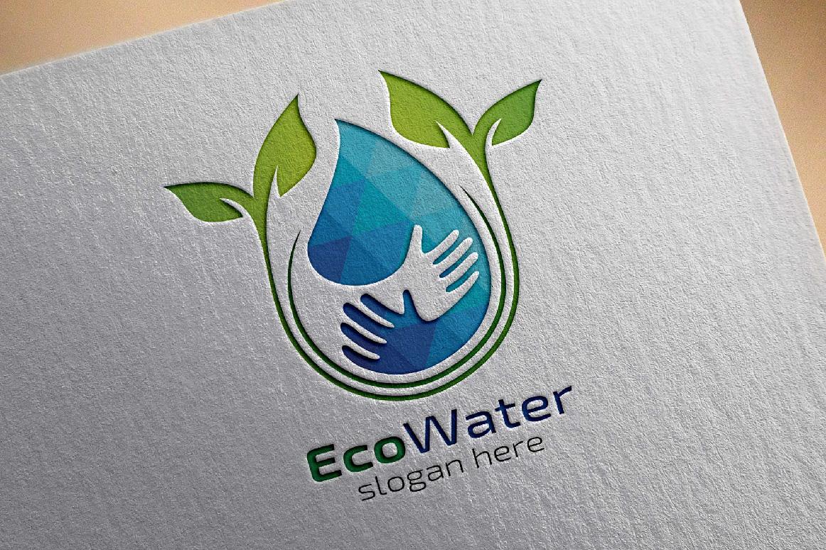 Eco Blue Water Drop Logo example image 2