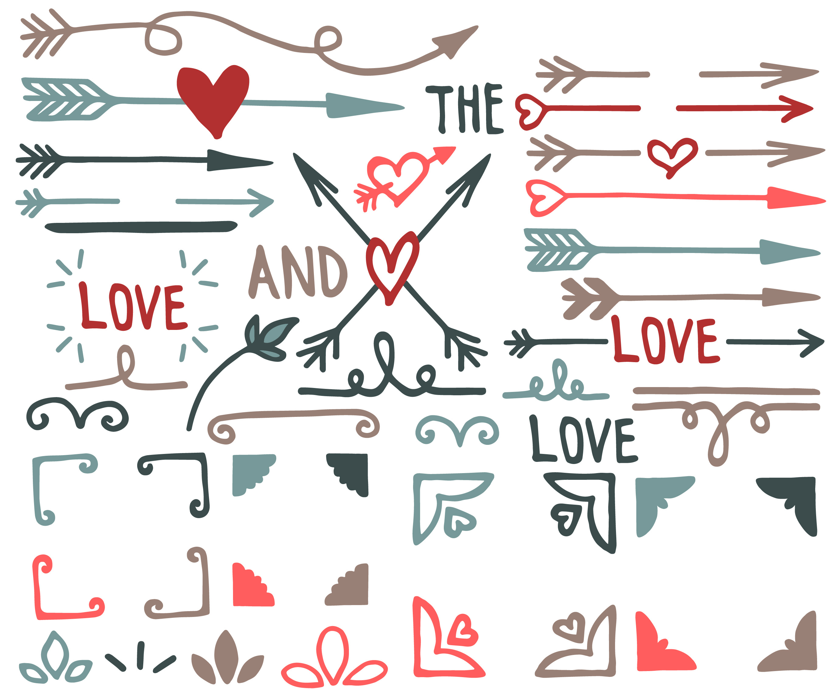 Hearts, arrows and frames example image 3