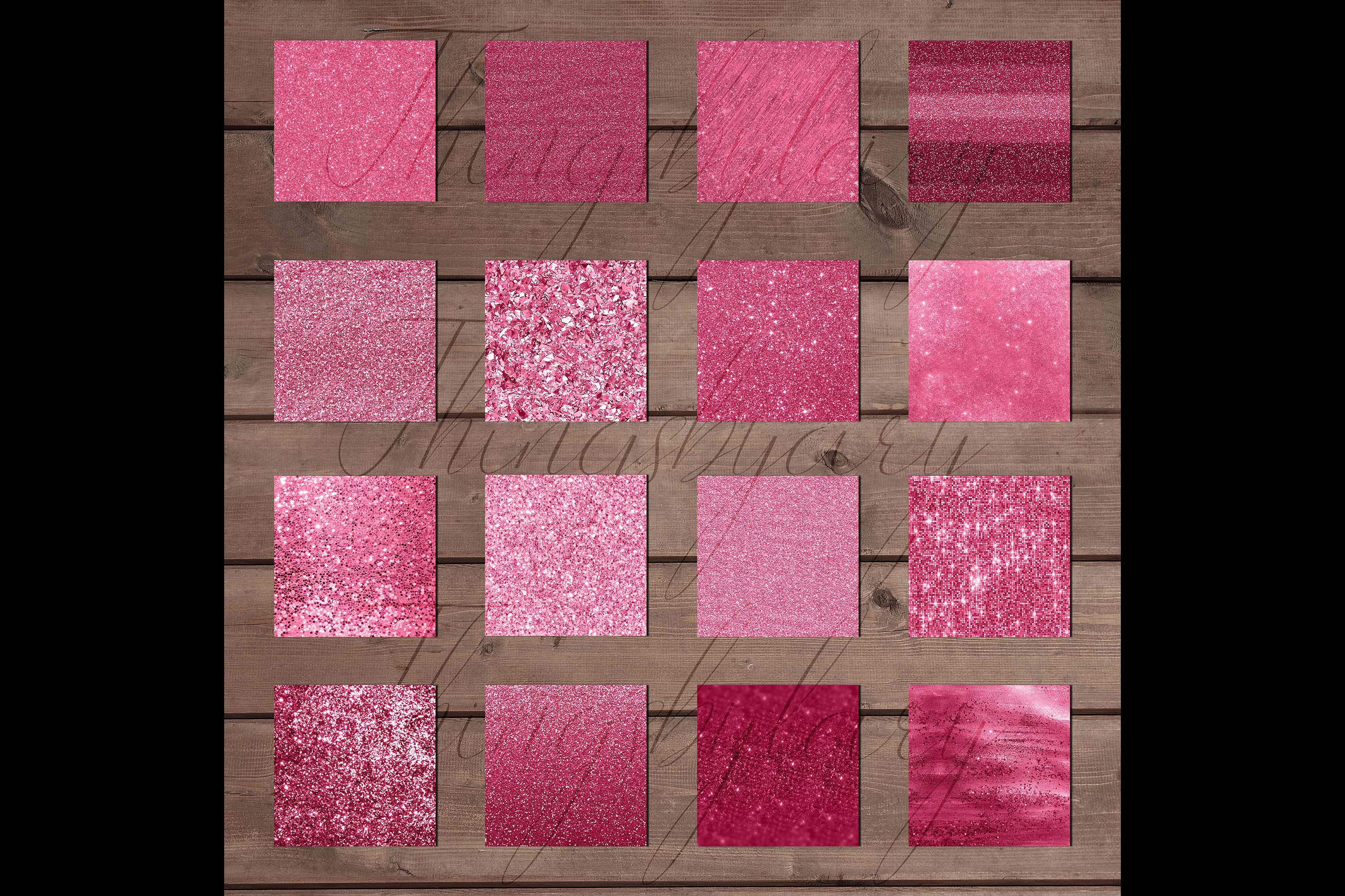 42 Blush Pink Princess Baby Glitter Sequin Digital Papers example image 8