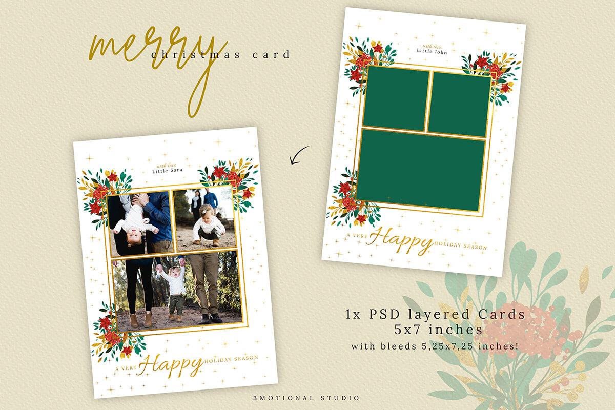 Christmas Card Template 5x7 example image 4