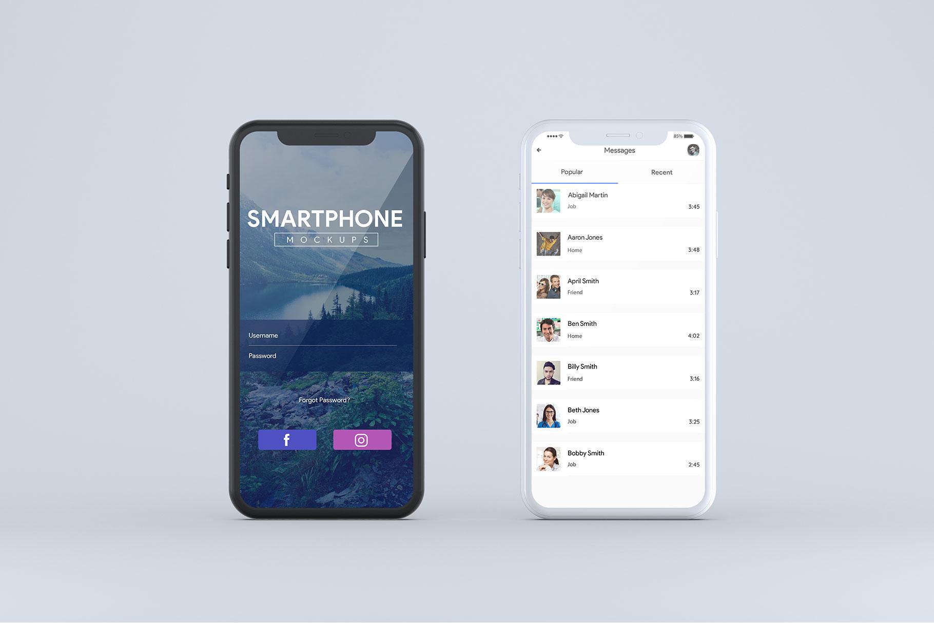Smartphone Mock-Ups example image 7