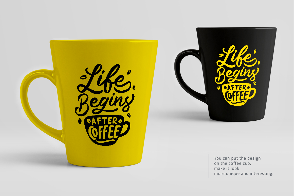 Set of Hand Lettering Coffee Quotes - SVG Cut File Bundle example image 6