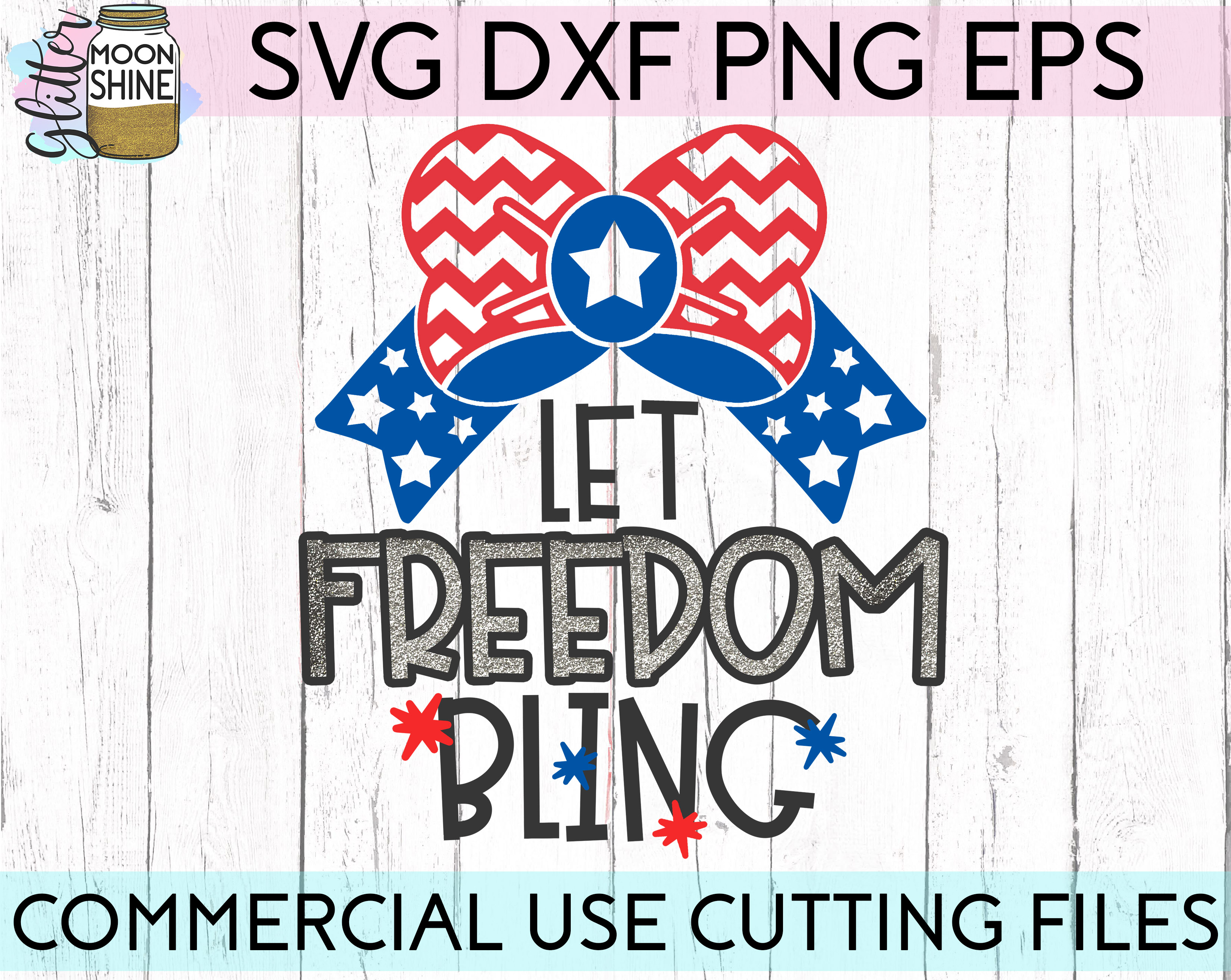 Huge 4th Of July Design Bundle of 23 SVG DXF PNG EPS Cutting Files example image 9