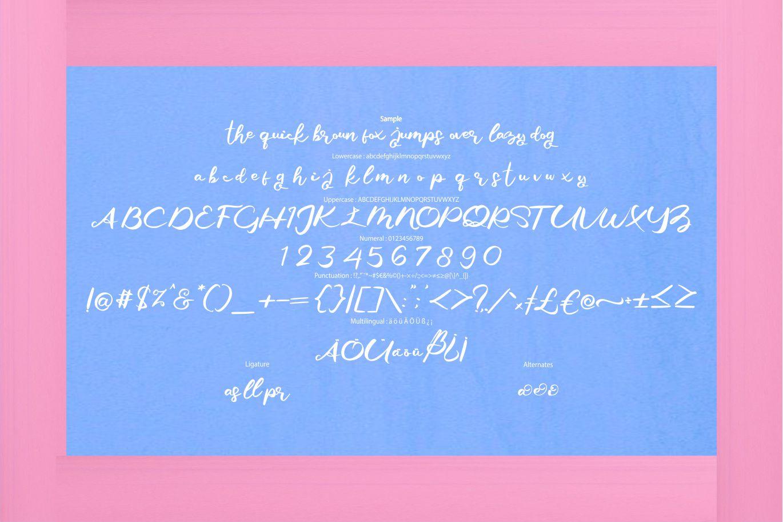 Giji   Modern Script Style Font example image 6
