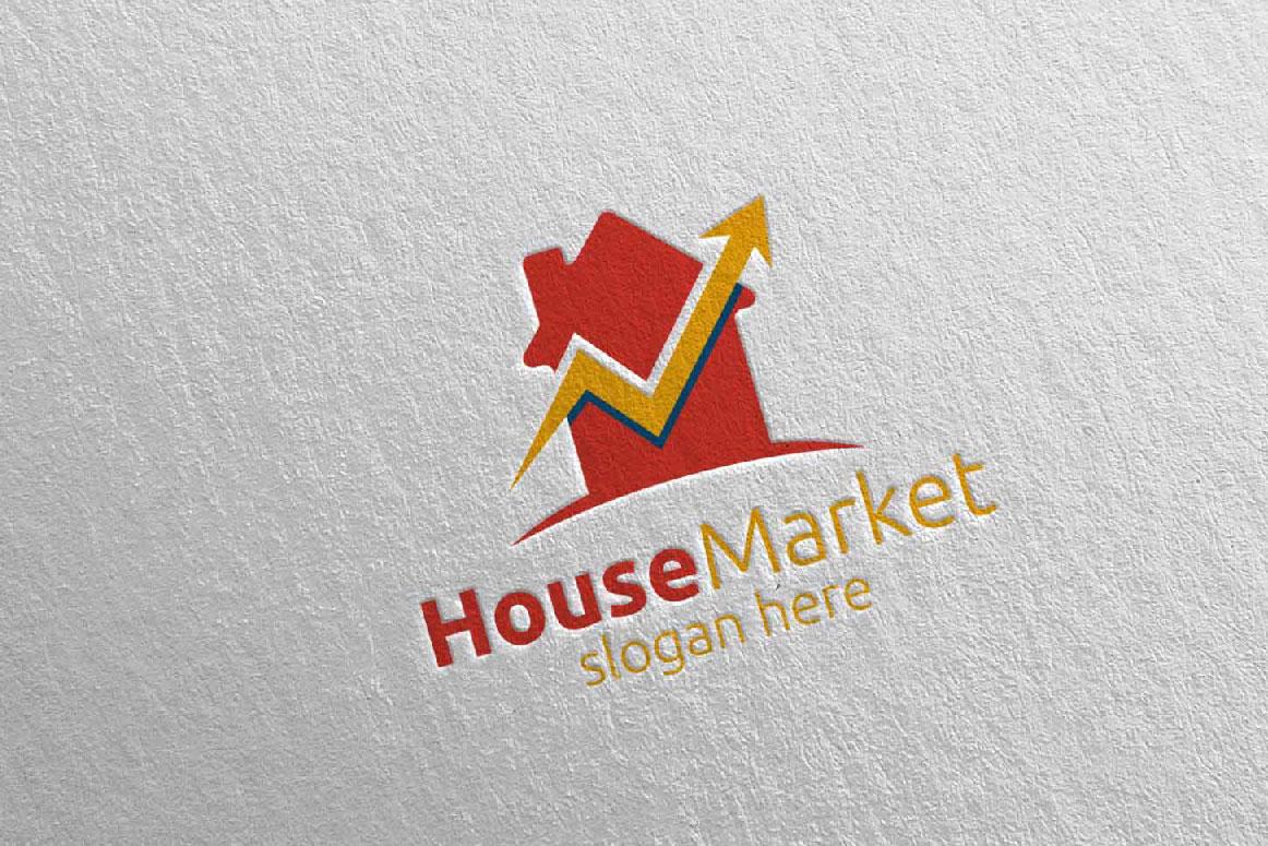 Real Estate Marketing Financial Advisor Logo Design 21 example image 2