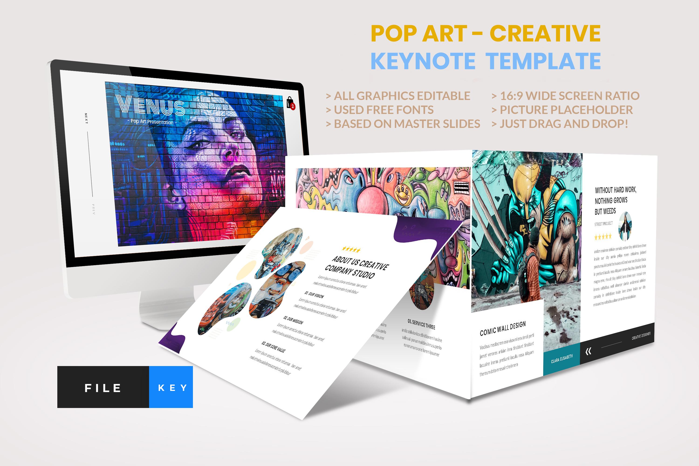 Pop Art - Creative Keynote Template example image 1