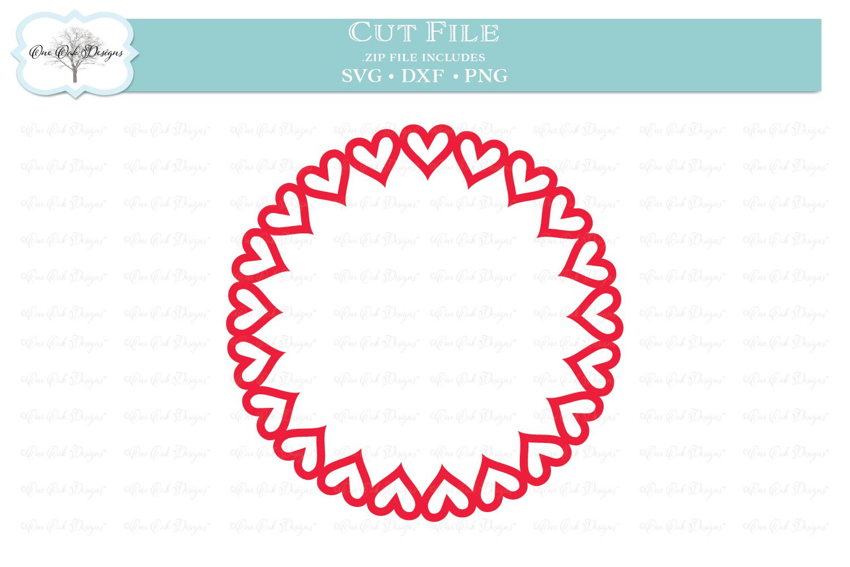 Open Heart Circle Monogram Frame example image 1
