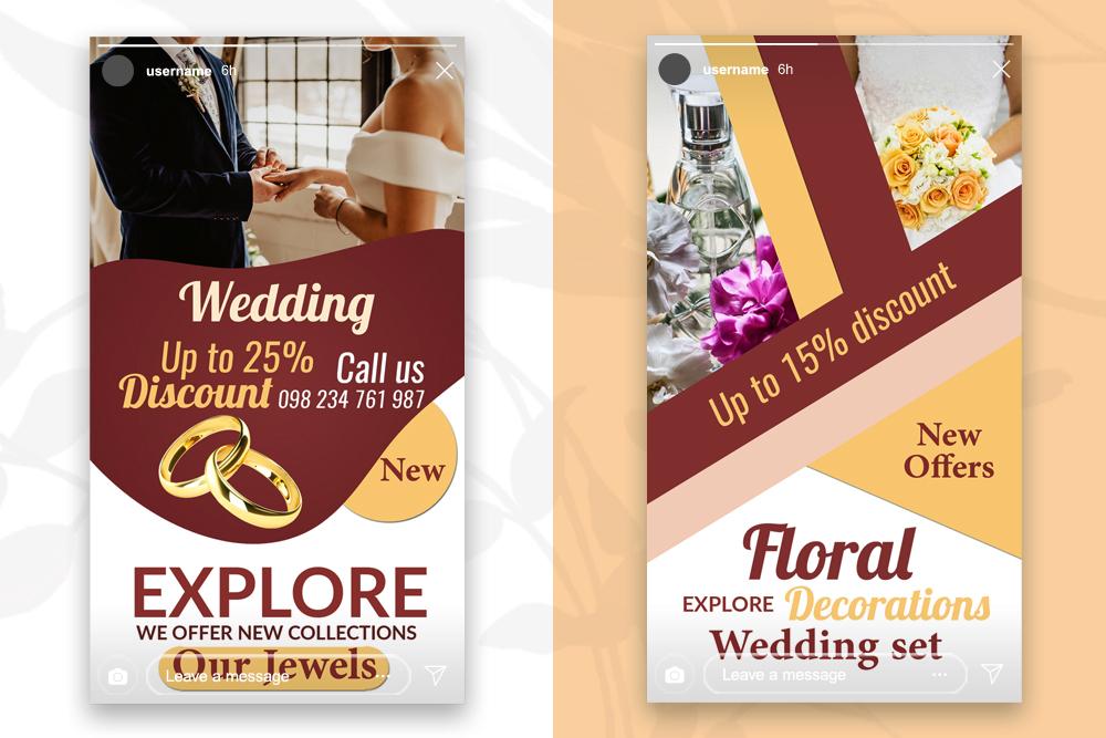 4 Wedding Instagram Stories example image 2