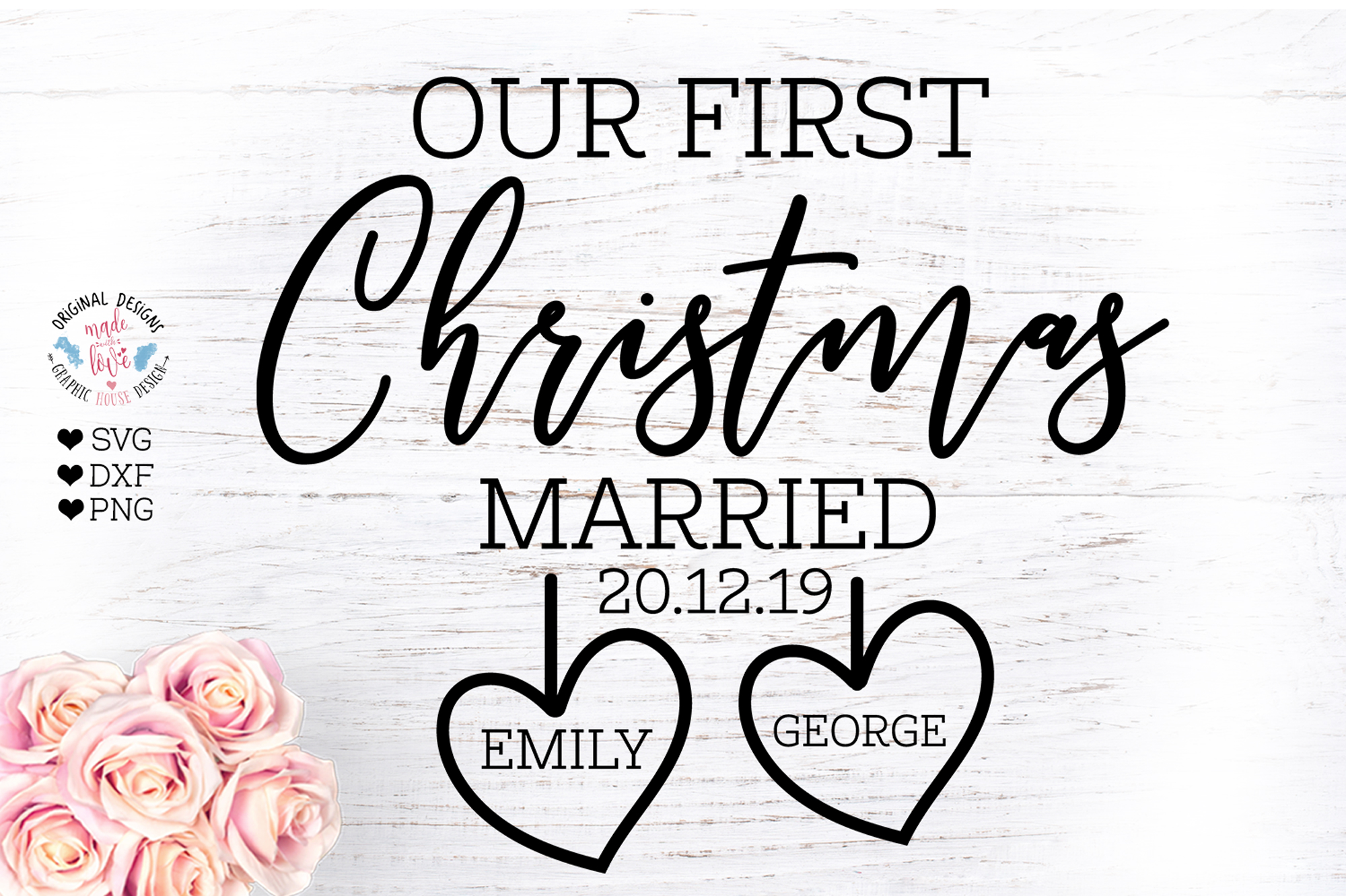 Our First Christmas Married example image 2