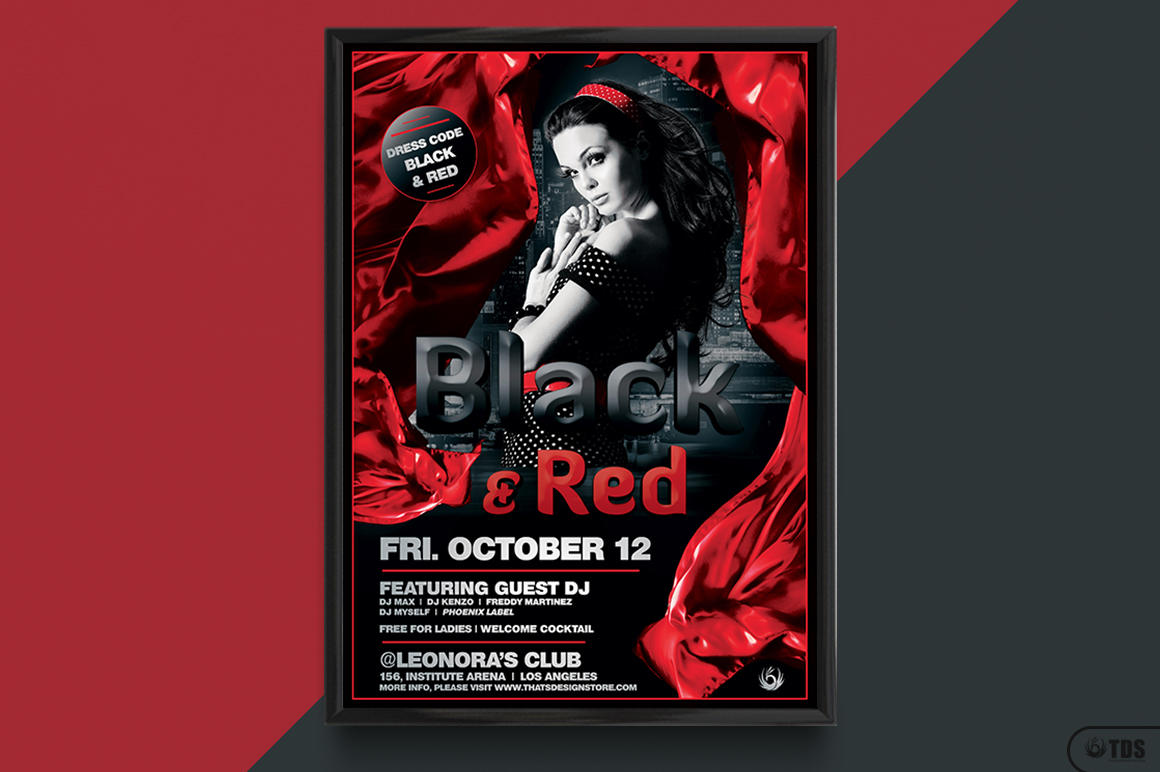 Black and Red Flyer Template V2 example image 6