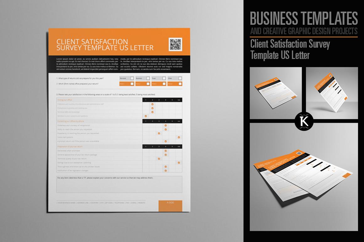 Client Satisfaction Survey Template US Letter example image 1