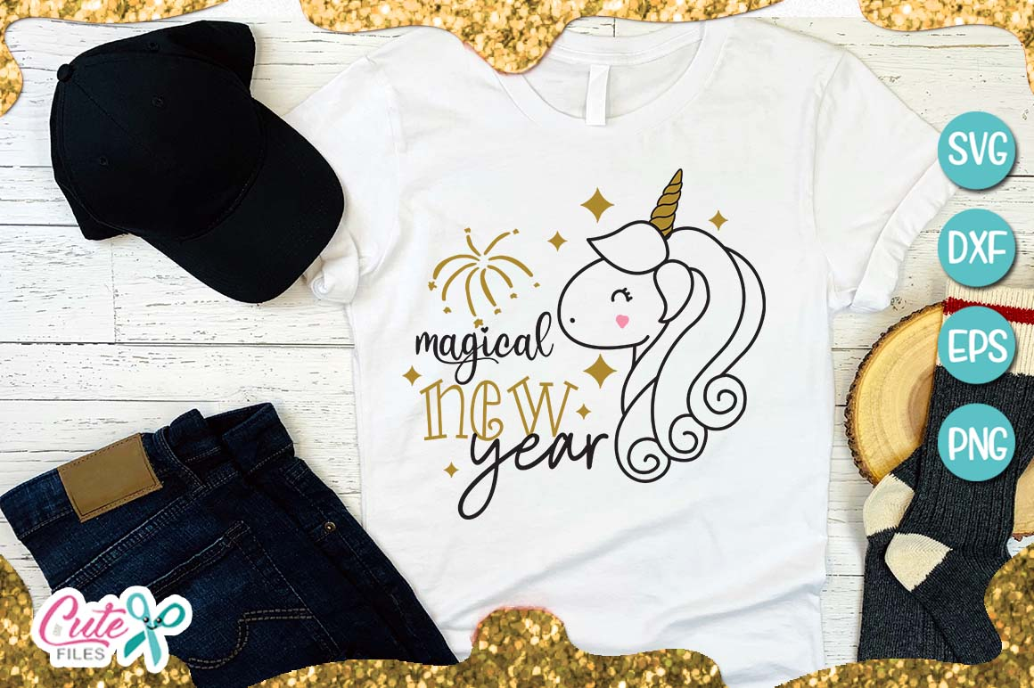 Magical new year SVG for crafter example image 1