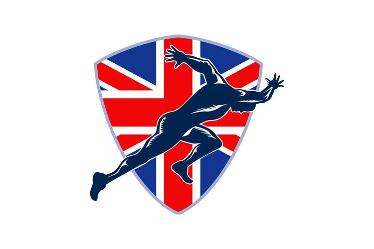 Runner Sprinter Start British Flag Shield example image 1