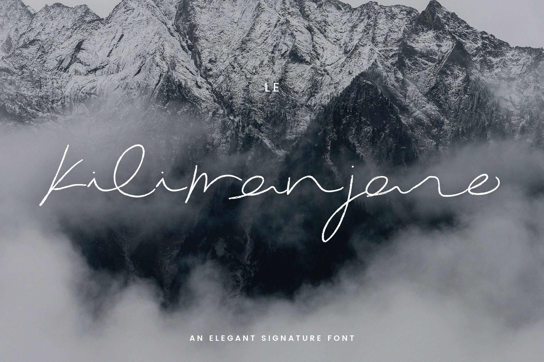 Le Kilimanjaro - A Signature Script example image 1
