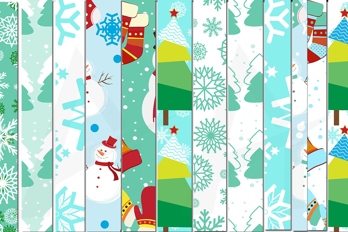 christmas digital papers, winter digital papers, christmas pattern, winter patterns, high quality 300 dpi, 12 x 12 inch , and 8.5 x 11 inch example image 4