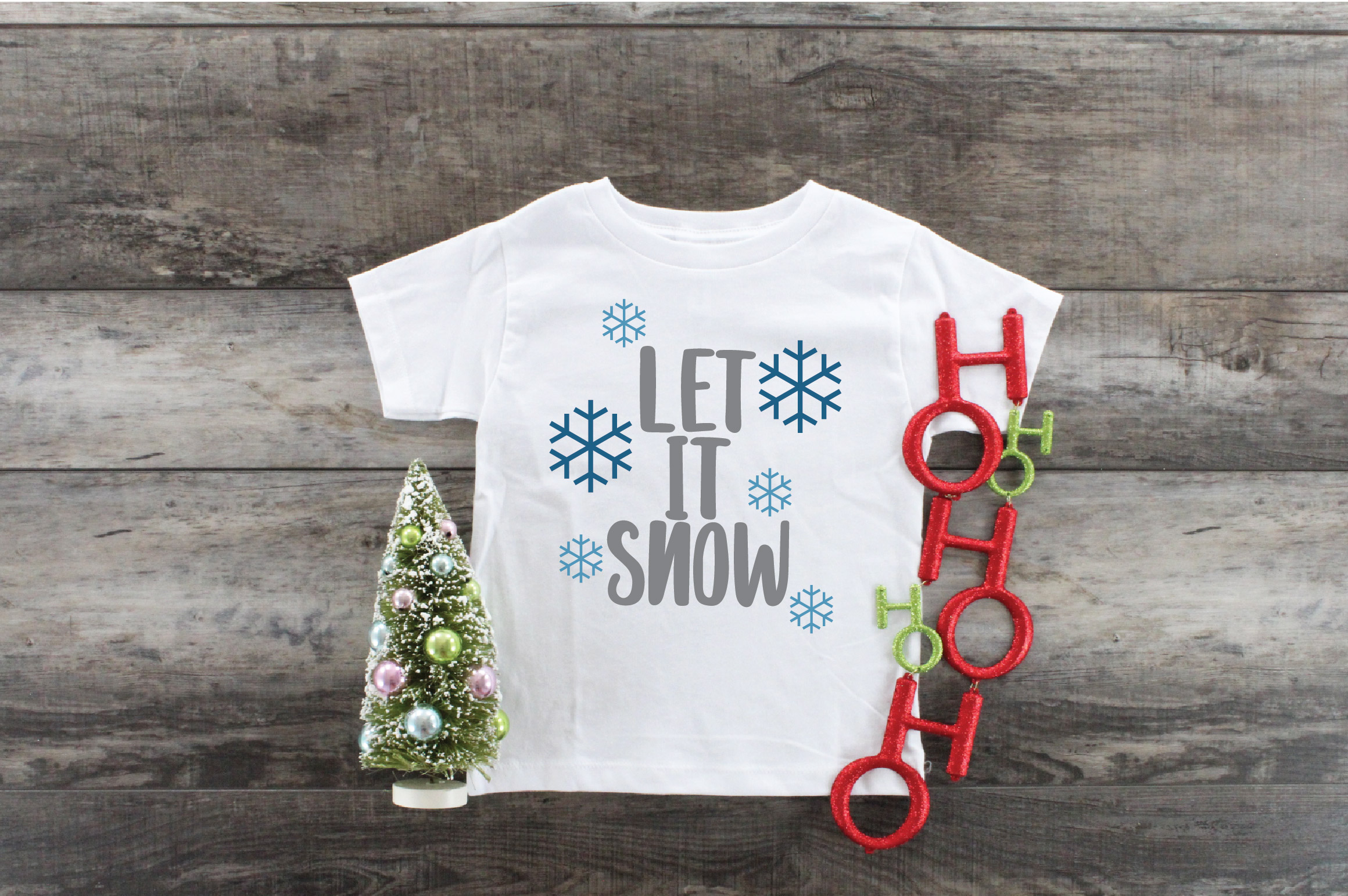 Let it Snow SVG Cut File - Christmas SVG example image 7