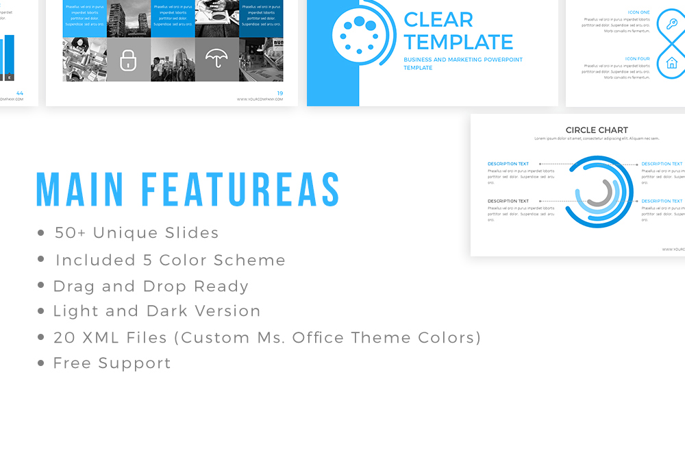 Clear Powerpoint Template example image 2