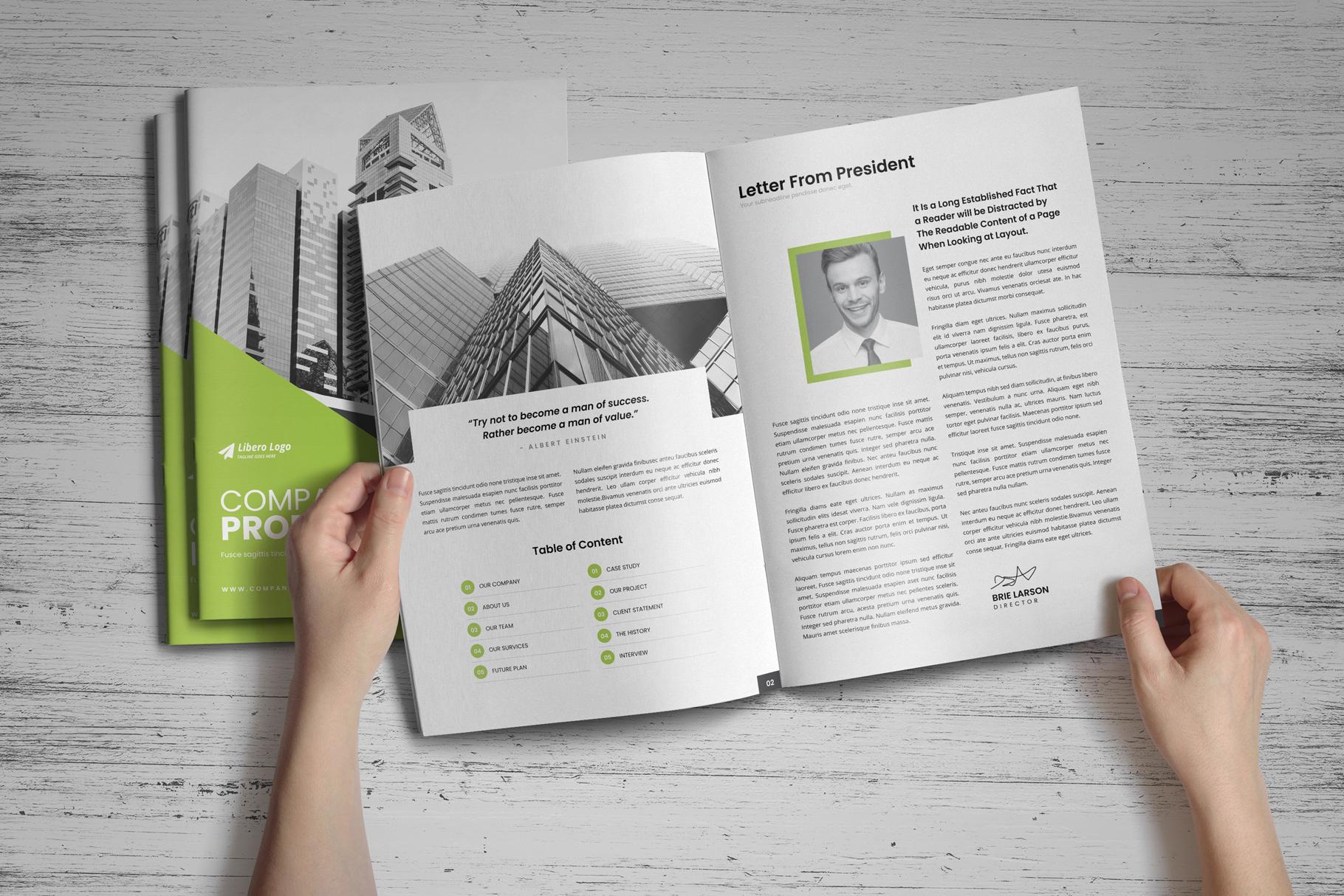 Company Profile Brochure v10 example image 16