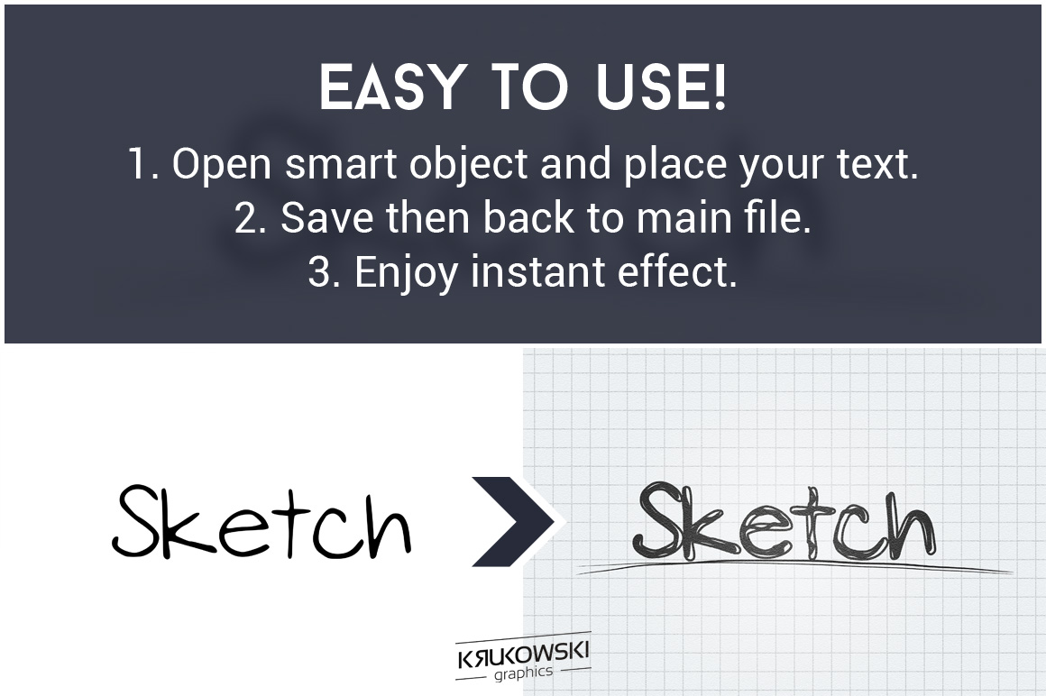 Sketch Text Effect Mockup example image 5