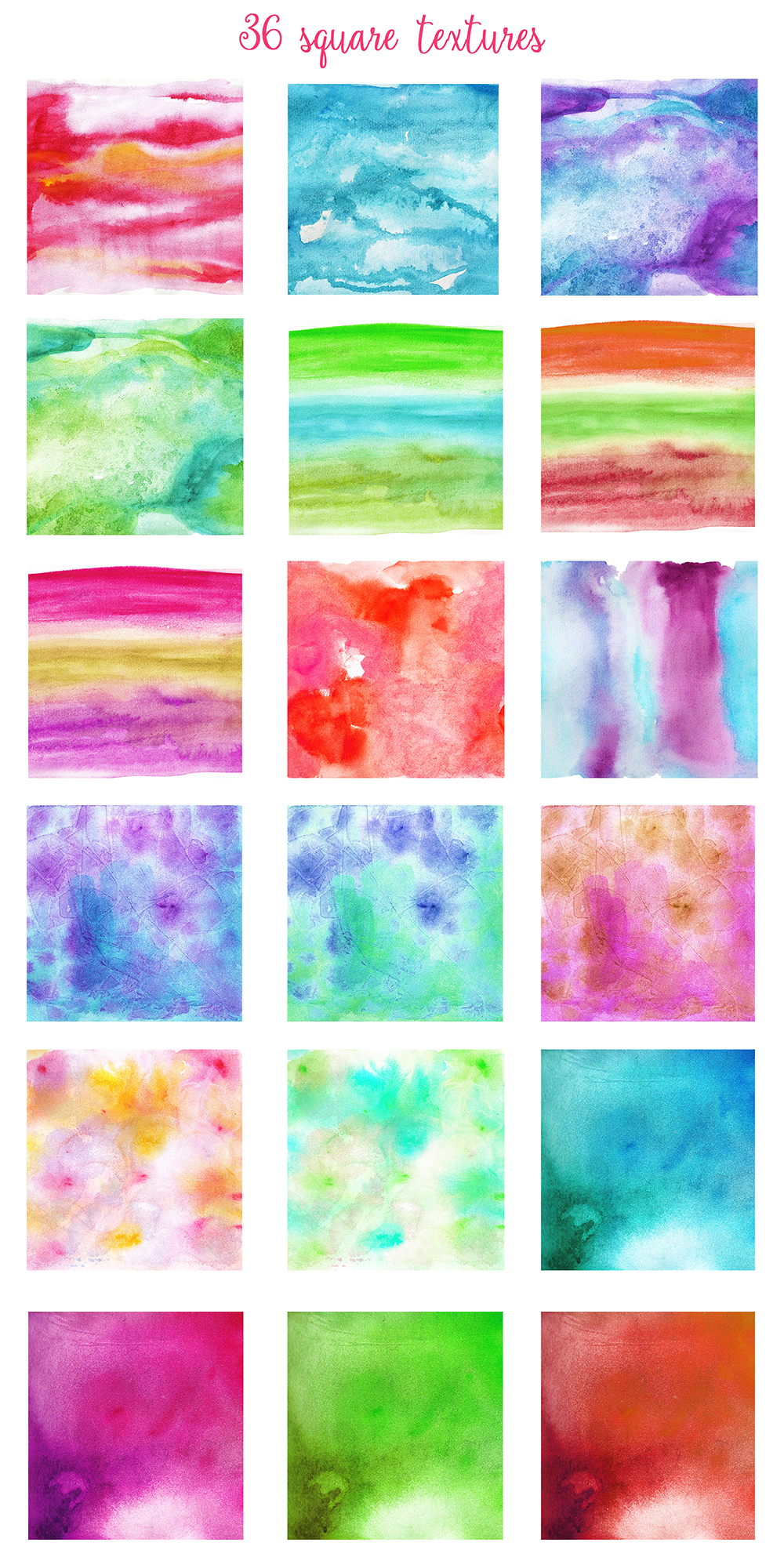 Complet Watercolor Textures Kit example image 4