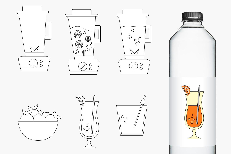Blender and Orange Juice Clip Art Illustrations example image 2