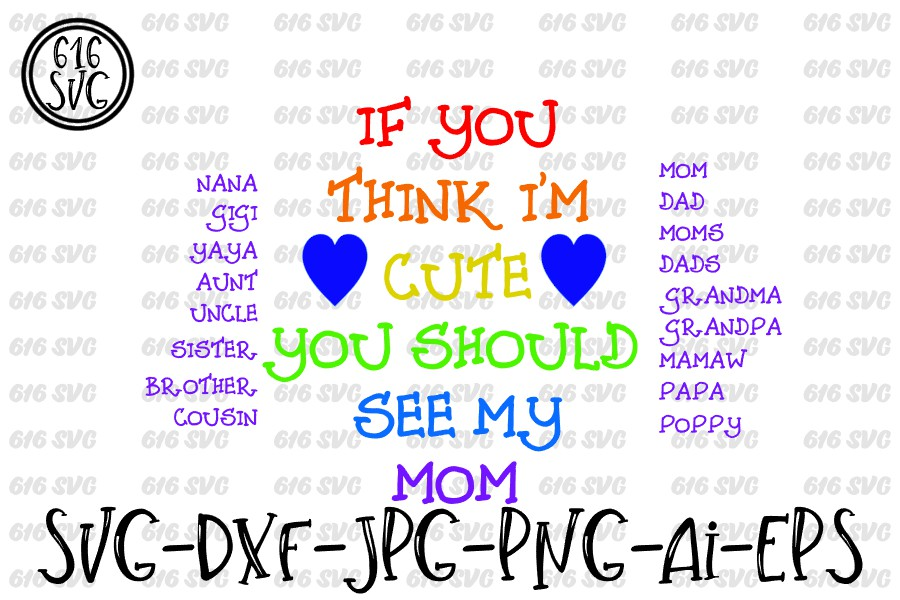 If you think I'm cute you should see my SVG, DXF, Ai, PNG example image 2