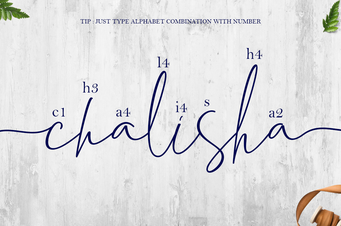 Chalisha Modern Calligraphy example image 9
