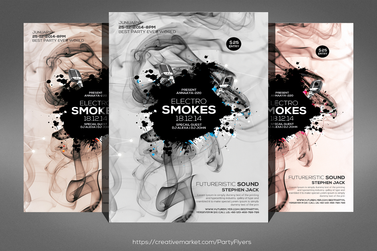 Smoke Night Party Flyer example image 1