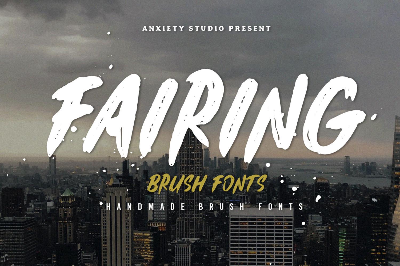Fairing Brush Fonts example image 3