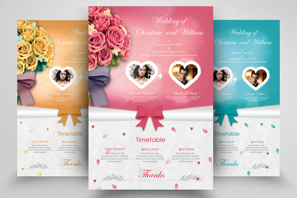 6 Wedding Invitaion Flyer Template example image 5