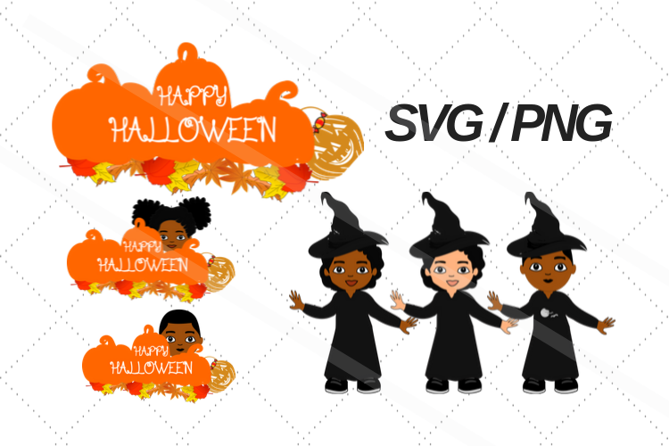 Halloween svg, fall, Afro svg, png, African american svg, example image 1