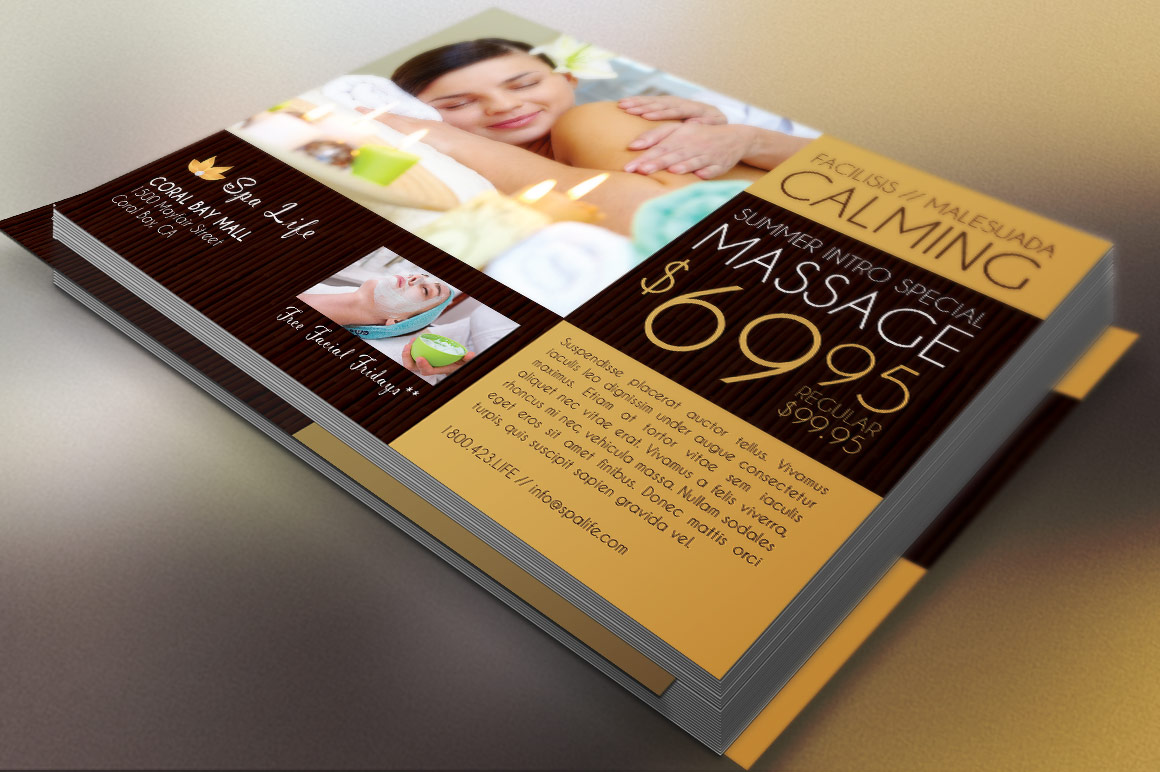 Spa Massage Flyer Template example image 1