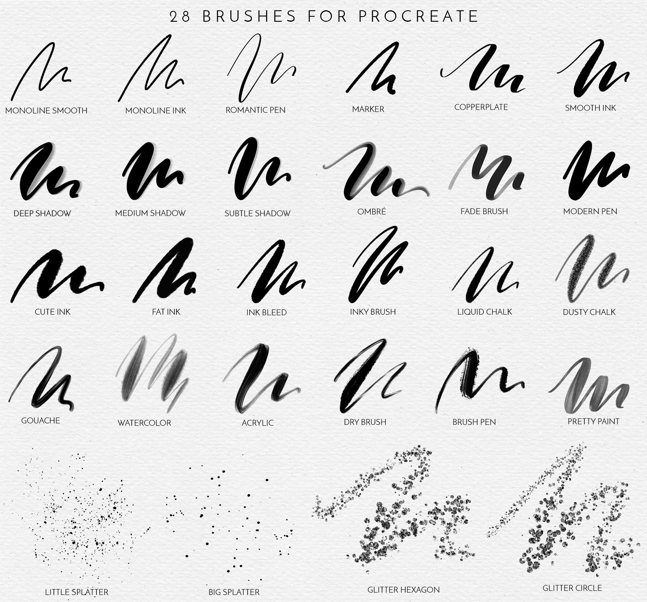 Procreate Lettering Brushes + Bonus example image 2
