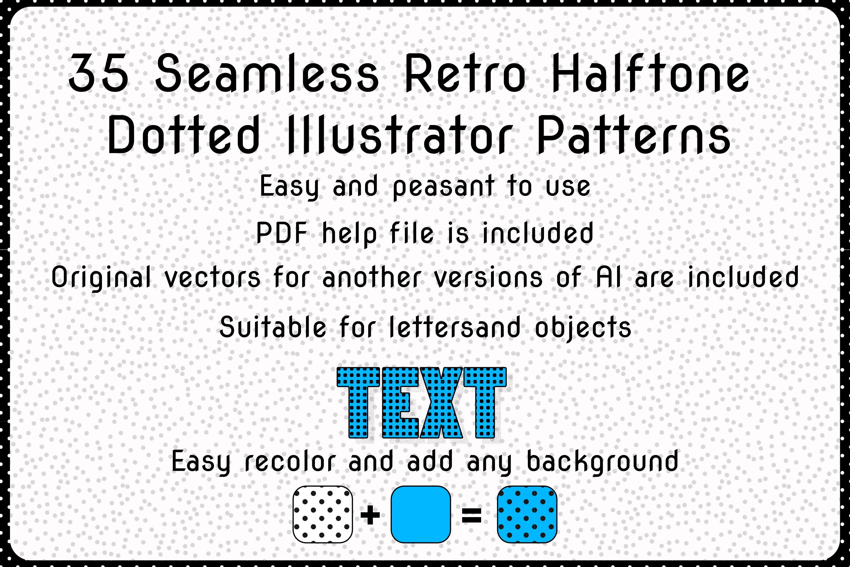 35 Vintage Seamless Grunge Dotted Illustrator Patterns example image 1