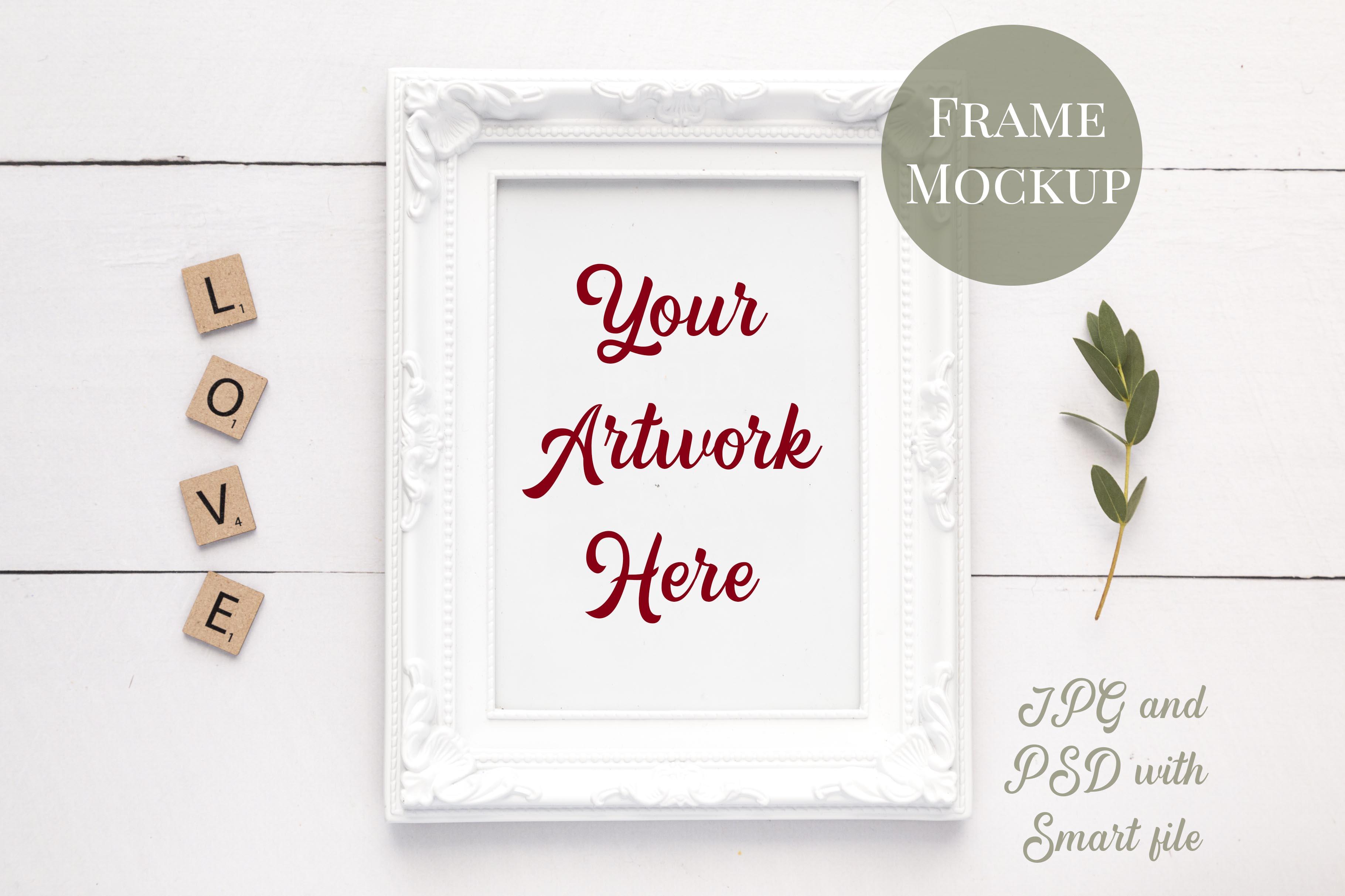 Bundle of 8 Mockups - Card, Frame and Mug Mockups example image 4