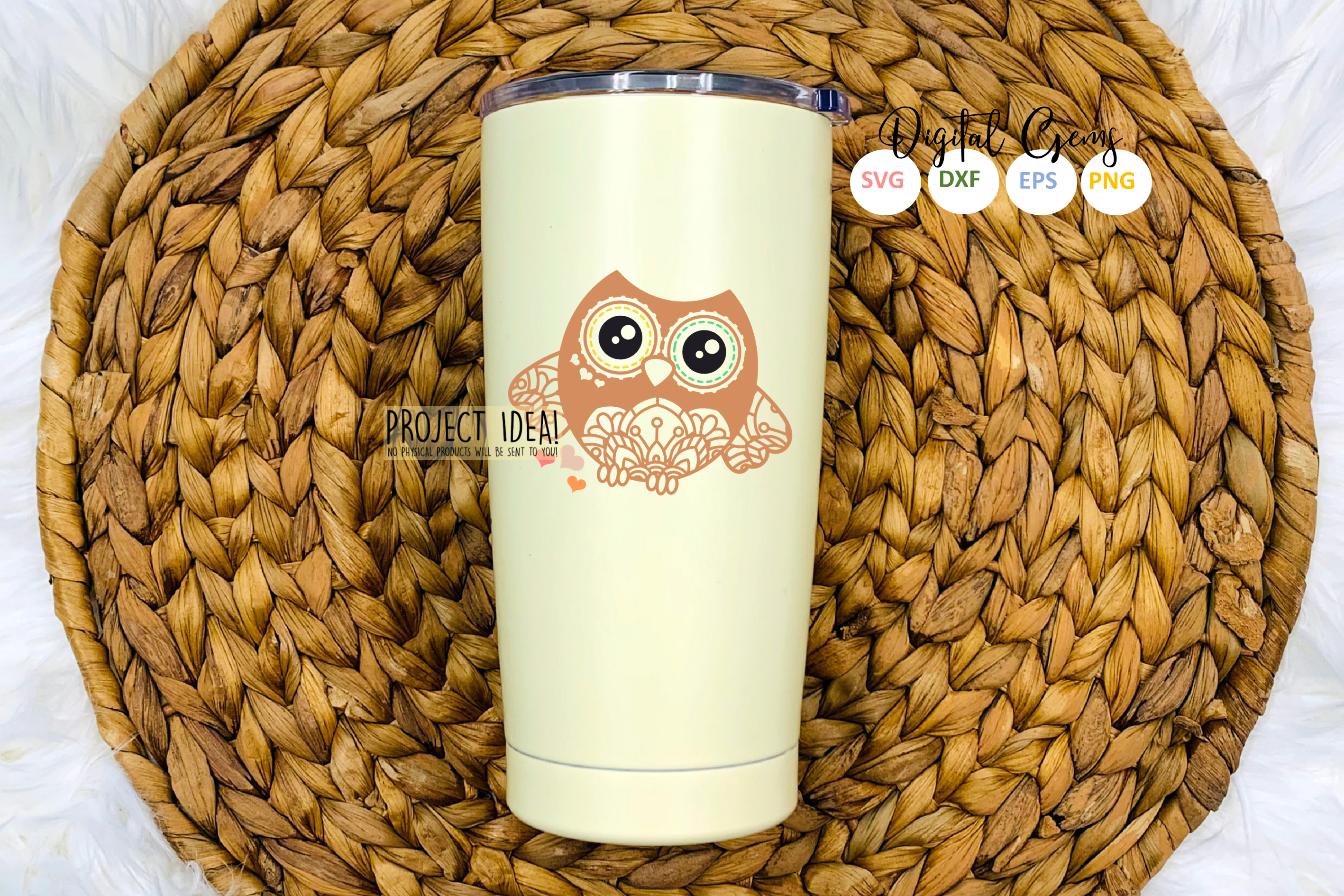 Owl SVG / EPS / DXF / PNG file example image 4